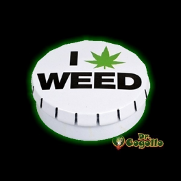 """CAJA CLICK-CLACK """"I LOVE WEED""""."""