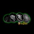 GRINDER ALUMINIO 4 PARTES SPYRAL 40MM - NEGRO